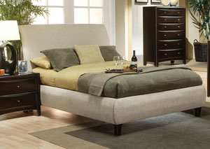 Phoenix Beige King Bed Fabric