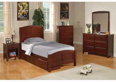 Parker Cappuccino Twin Size Bed