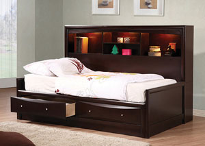 Phoenix Youth Daybed Cappuccino Full Size Bed