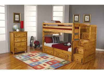 Wrangle Hill Amber Wash Twin/Twin Bunk Bed