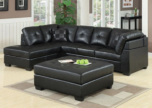 Darie Black Sectional