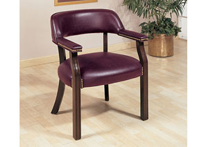 Oxblood Office Guest Chair