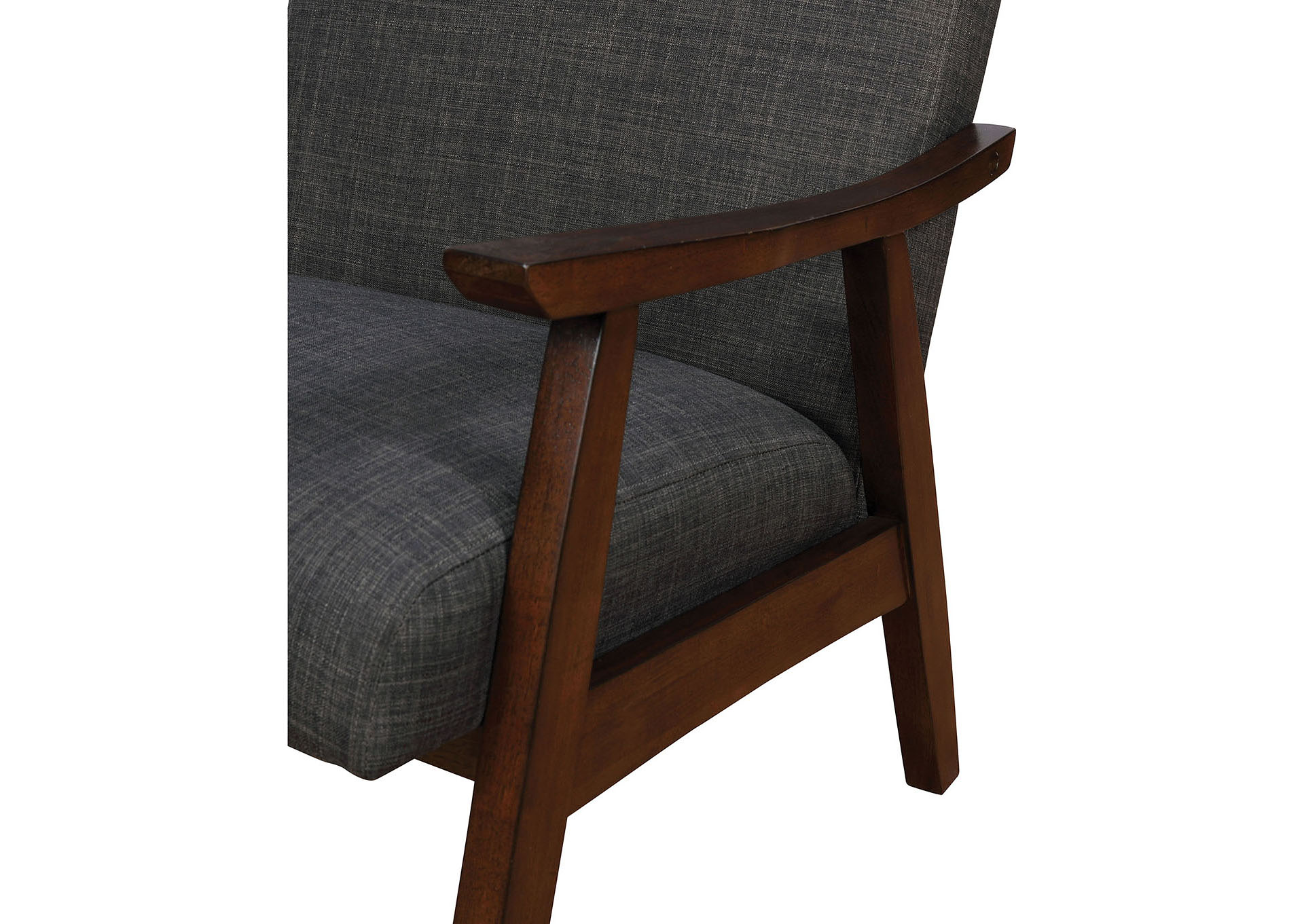 Deena Dark Gray Upholstered Accent Chair,Furniture of America