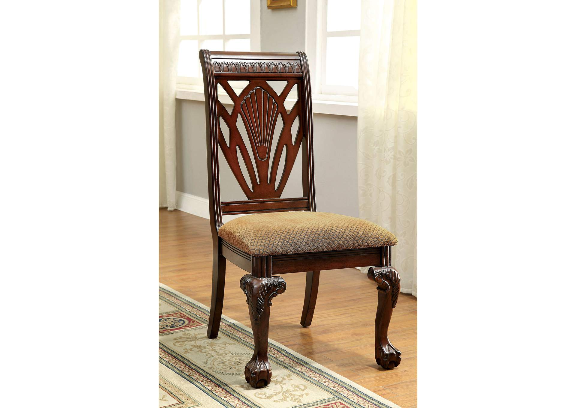 Petersburg l Cherry Side Chair (Set of 2),Furniture of America