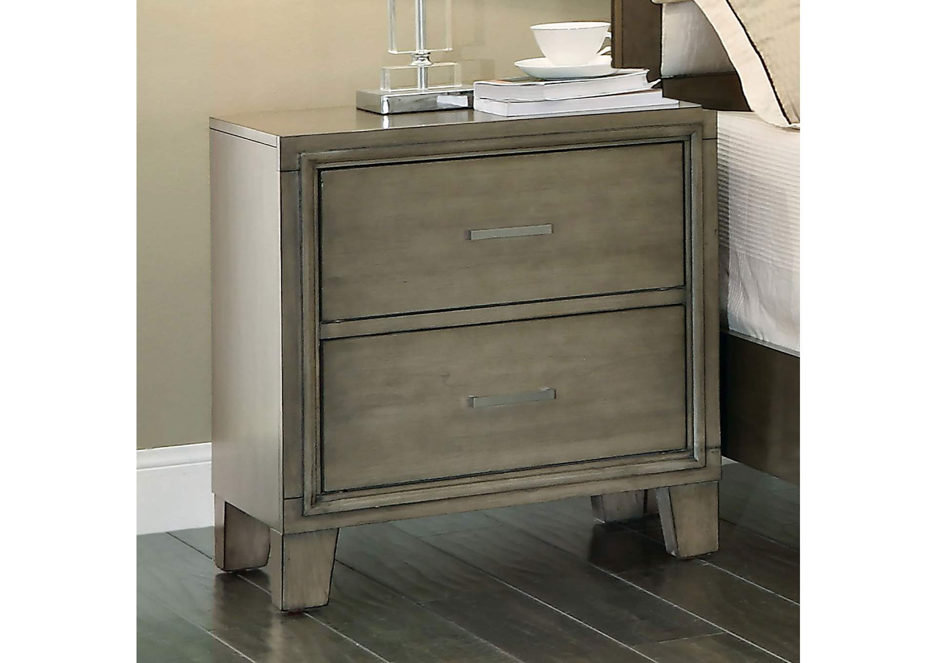 Enrico I Gray Nightstand,Furniture of America