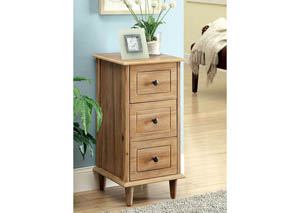 Dillon Natural 3-Drawer Side Table