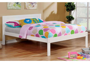 Annemarie White Full Platform Bed