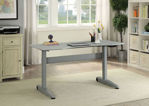Kilkee Gray Adjustable Height Large Desk