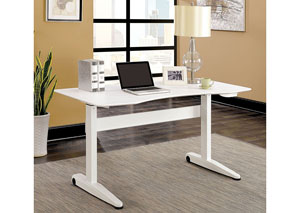 Kilkee White Adjustable Height Large Desk