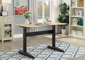 Kilkee Black Adjustable Height Small Desk