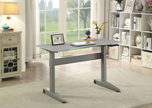 Kilkee Gray Adjustable Height Small Desk
