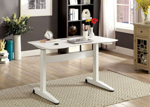 Kilkee White Adjustable Height Small Desk