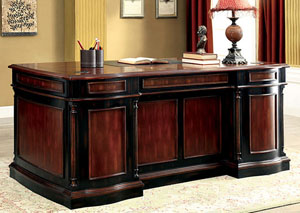 Strandburg Cherry & Black Office Desk