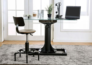 Anais Sand Black/Copper Lift Desk w/Chair