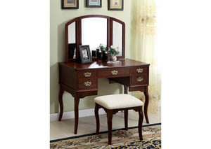 Cherry Vanity Table