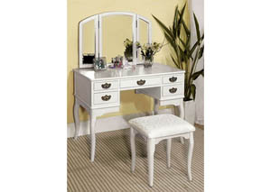 White Vanity Table