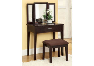 Espresso Vanity Table