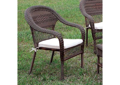 Olina Brown Wicker Patio Chair