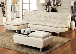 Hauser I World Traveler Fabric Futon Sofa