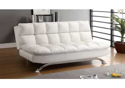 Aristo White Futon Sofa