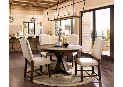Julia Light Oak Round Dining Table