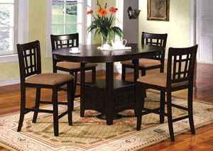 Metropolis Oval Counter Height Table w/18