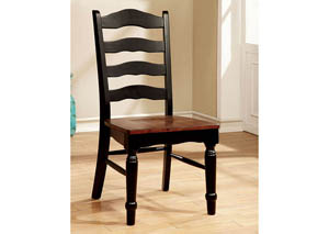 Palisade Black & Cherry Side Chair (Set of 2)