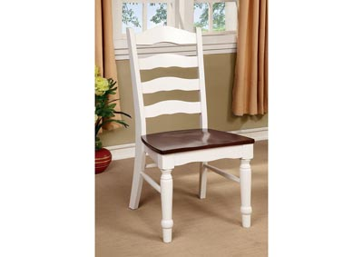 Palisade White & Cherry Side Chair (Set of 2)