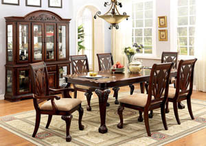 Petersburg l Cherry Rectangle Extension Dining Table w/4 Side Chairs & 2 Arm Chairs