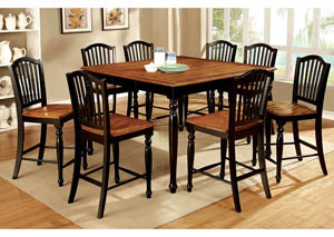 Mayville Black/Antique Oak 7 PC. Dining Table Set