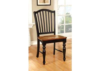 Mayville Black/Antique Oak Side Chair (Set of 2)