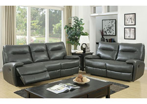 Binford Gray Sofa and Loveseat