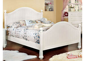 Cape Cod II White Full Panel Bed