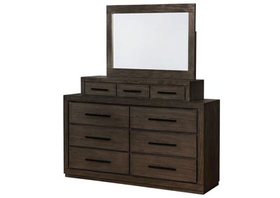 Oakburn Brown Dresser & Mirror