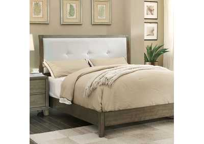 Enrico I Gray California King Upholstered Platform Bed