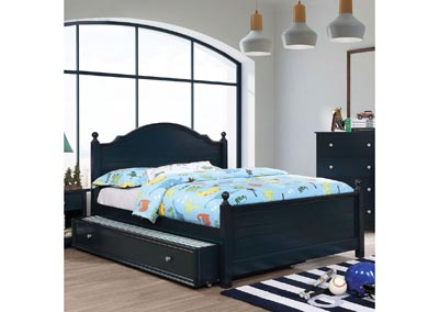 Diane Blue Full Platform Bed