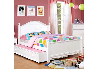 Dani White Full Platform Bed