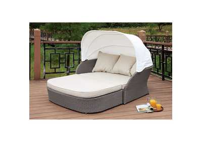 Aida Gray/White Patio Canopy Daybed