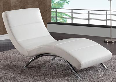 White Leather Relax Chaise