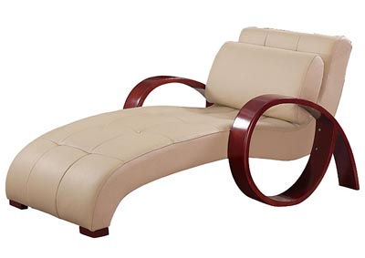 Cappuccino Leather Relax Chaise