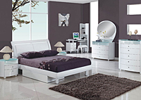 Emily White Full Bed, Youth Dresser & Youth Mirror