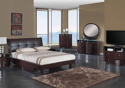Evelyn Wenge Queen Bed