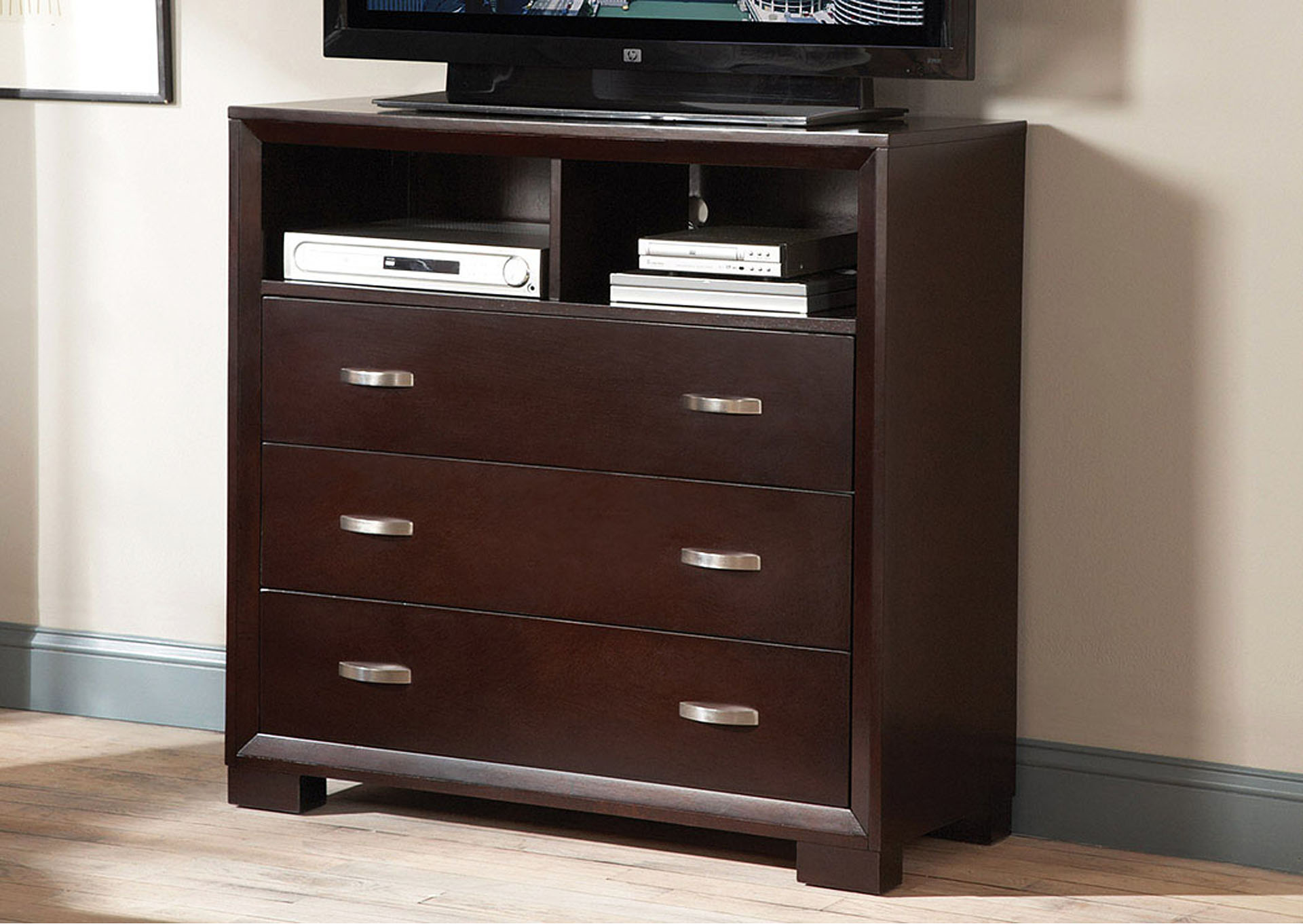 Astrid Espresso TV Chest,Homelegance