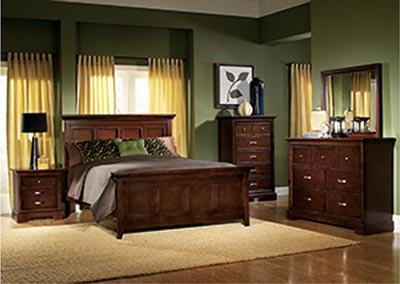 Glamour Espresso California King Panel Bed