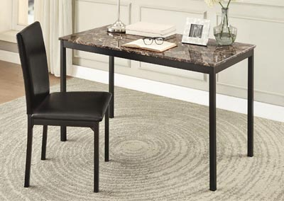 Writing Desk & Chair, Faux Marble Top