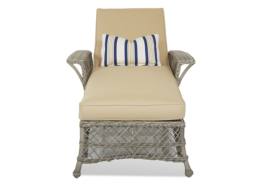 Willow Beige Fabric Wicker Chaise,Klaussner Home Furnishings