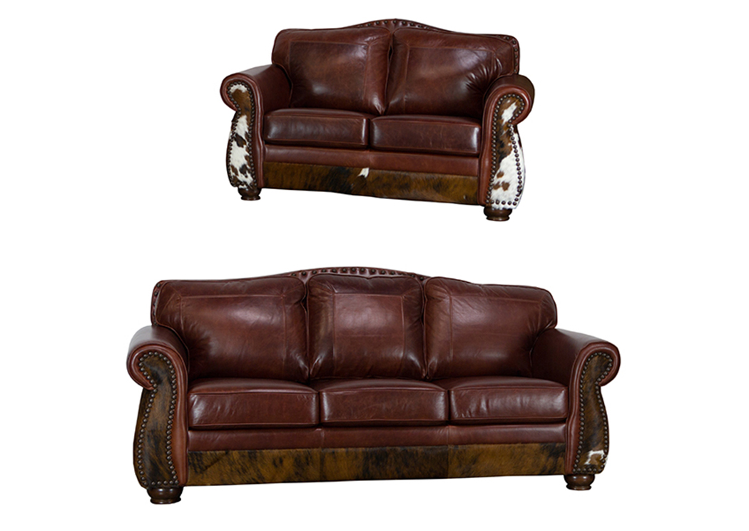 Leather Cowhide Sofa L M T Rustic
