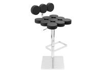 Mushroom Black Bar Stool