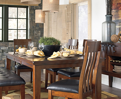 USA Premium Leather Dining Room